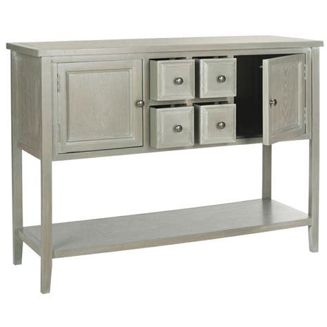 safavieh charlotte ash grey storage sideboard end tables