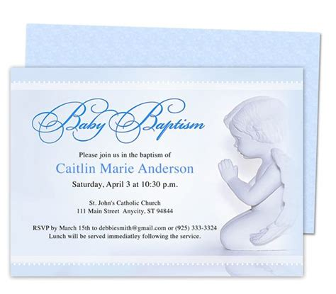 boy christening invitations template baby boy baptism christening invitations printable angelo
