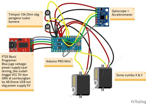 membuat drone dengan arduino project ar drone arduino camera gimbal final development