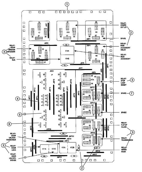 Jeep Commander Fuse Box Diagram 2008 Jeep Commander Junction Block Fuses Relays And