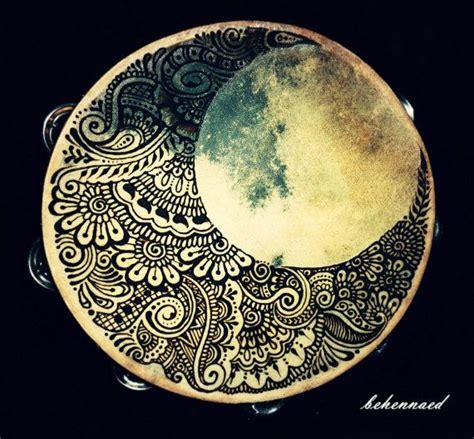 henna tattoo ulm crescent moon hennaed tambourine hennas