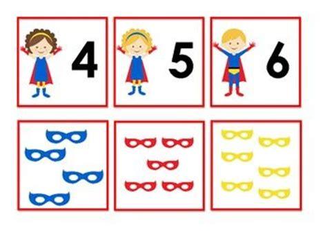 printable superhero numbers free superhero number matching activity teaching