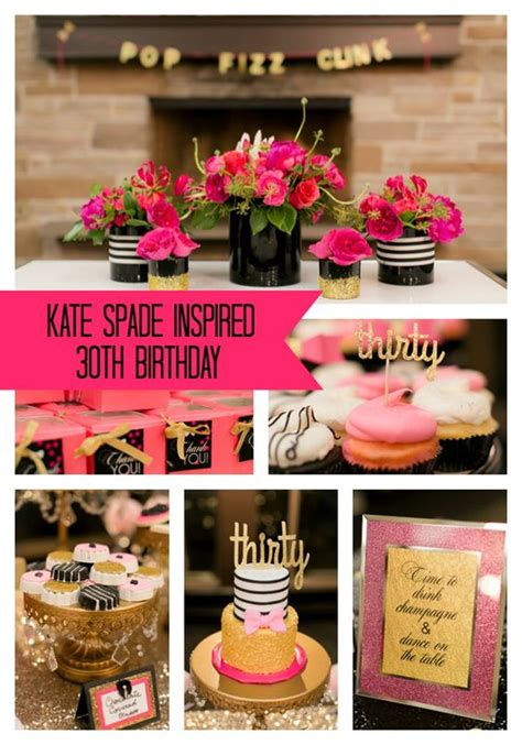 themed parties for 30th birthdays kate spade themed 30th birthday party verjaardag 30ste