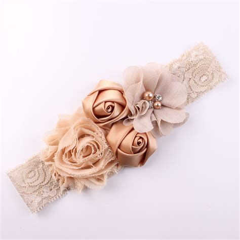 newborn baby headband bows lace flower children shabby lace baby headband chic flower headband hair