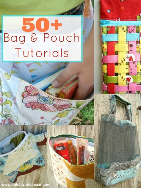 50 Bag Tutorials Patchwork Posse Easy Sewing Projects - pouch