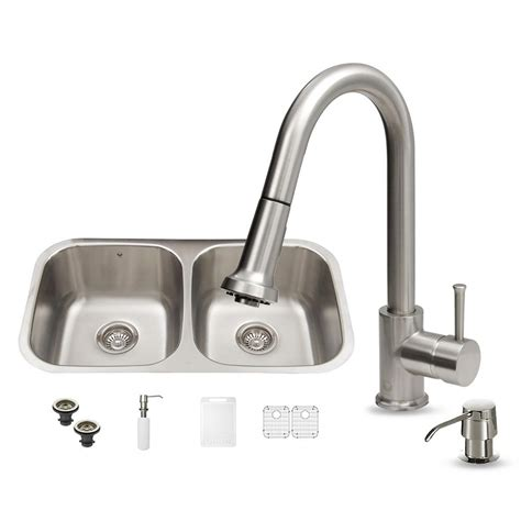 amazon stainless steel sink vigo all in one undermount stainless steel 32 in double