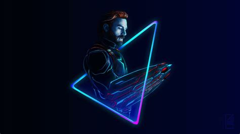 neon captain america ataniketjatav wallpaper