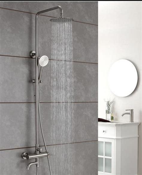 outdoor shower fixtures stainless steel quality stainless steel brushed nickel outdoor shower faucets