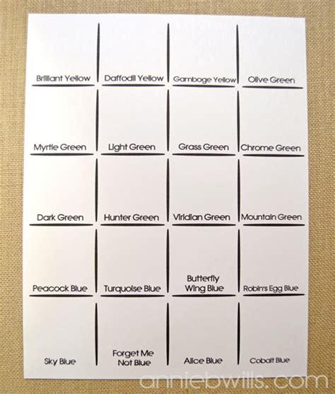 swatch card template friday freebie printable peerless watercolor palette