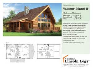 Lincoln Log Homes Floor Plans by Log Home Floorplan Valcour Island Ii The Original