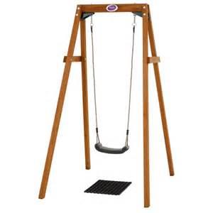 Single Swing Frame plum wooden single swing set