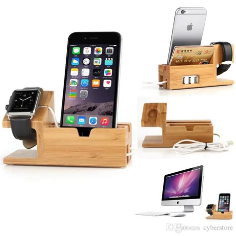 the 6 best bedside charging stations for airbnb s and best for apple watch iwatch iphone bamboo charging station
