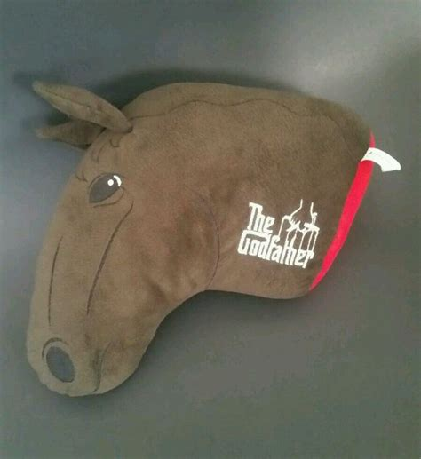 godfather horse head pillow the godfather severed horse head stuffed plush toy pillow