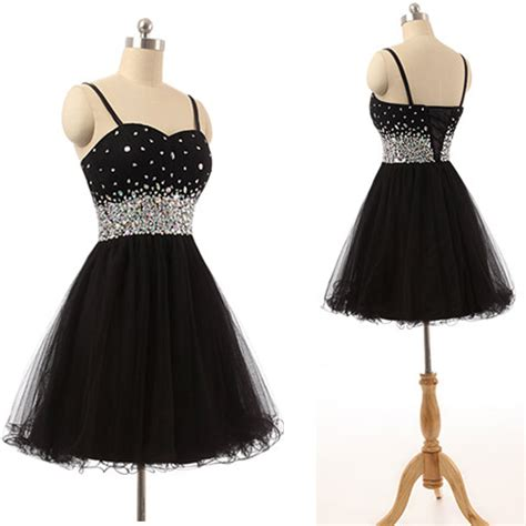 Sparkly Black sparkly black homecoming dresses prom dresses