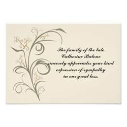 everlasting bereavement thank you notecard 3 5 quot x 5 quot invitation card zazzle