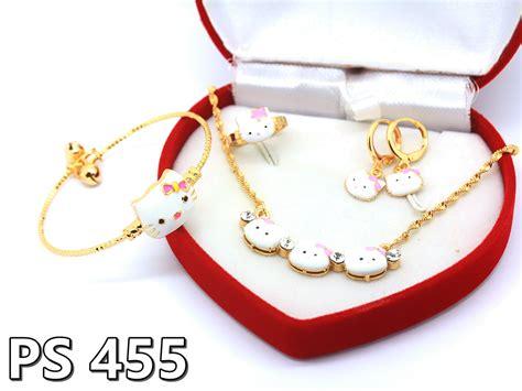 Yaxiya Anting Cincin Kalung Gelang Dewasa Perhiasan Imitasi T2909 2 perhiasan hello terbaru pusat perhiasan hello