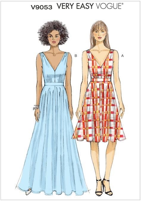 dress pattern vogue uk misses dress vogue pattern 9053 sew essential