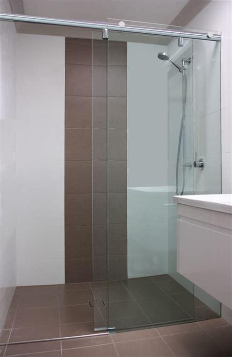 Sliding Frameless Shower Screen   White Bathroom Co