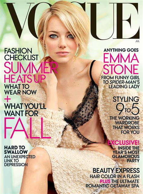 emma stone vogue chatter busy emma stone quotes