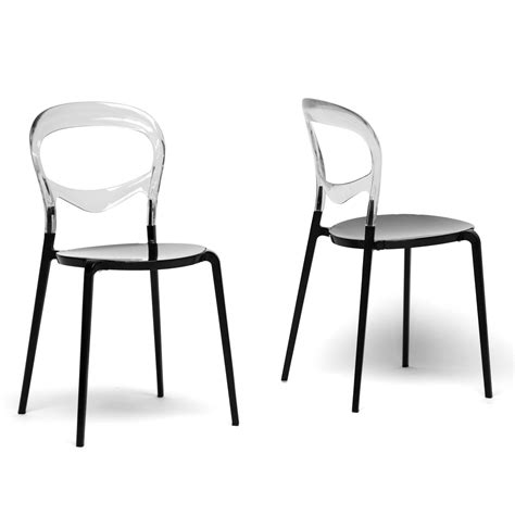 clear dining room chairs orlie clear modern dining chairs set of 2 by wholesale