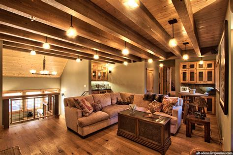 mountain homes interiors mountain style home decorated in rustic style