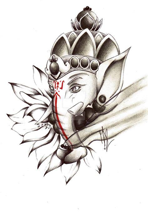tattoo ganesha drawing commission 5 ganesh tattoo by pensierimorti on deviantart