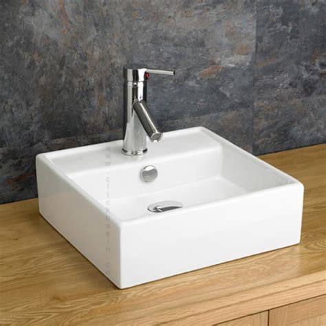 basin sink quality modern square tivoli counter top basin sink