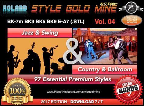 stylegoldmine jazz swing  country ballroom vol  roland bk series bk  bk bk  bk  bk