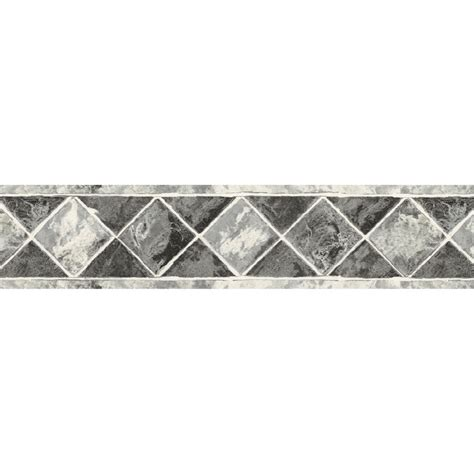 black and white wallpaper border shop sunworthy 6 3 4 quot black and white style prepasted