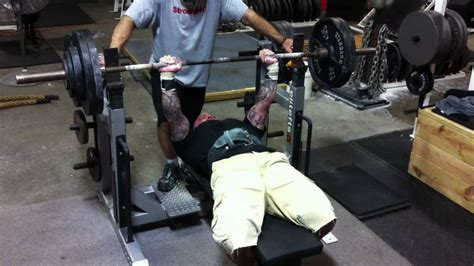 5 sets of 5 bench press jim wendler bench press 300x10 youtube