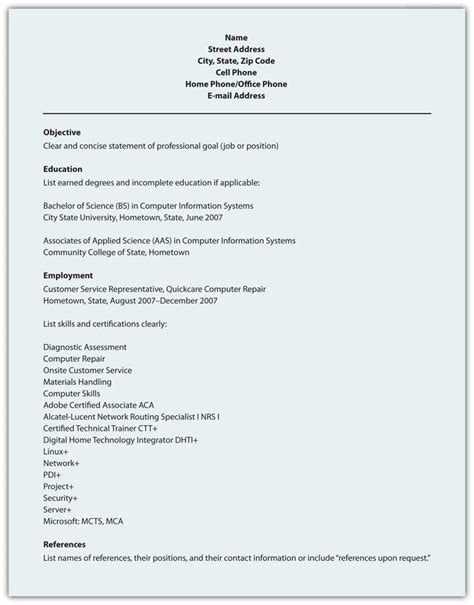 Resume Format Of 9 5 R 233 Sum 233 Business Communication For Success