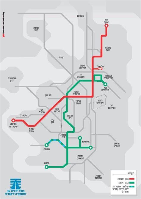 jerusalem light rail map a second light rail line for jerusalem itinerant urbanist