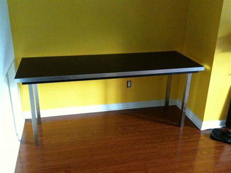 Countertop Desk Ideas by Large Simple Hacked Desk Countertop Plus Legs And