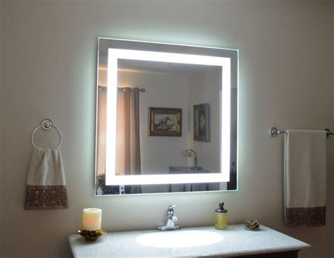 travel vanity with lights mam84040 40 quot x 40 quot lighted vanity mirror wall mounted