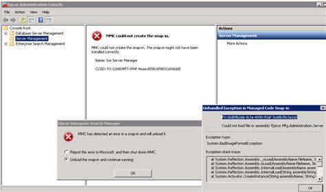 admin console epicortips epicor e10 administration console mmc could
