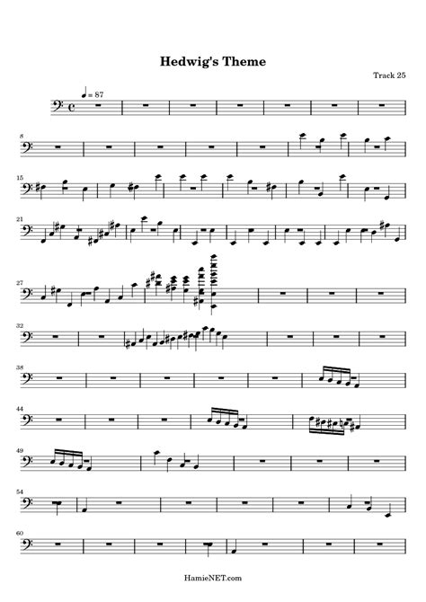 theme music in free sheet music for flute harry potter theme download