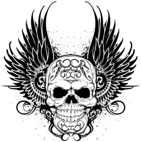 skull with wings tattoo design jpg clip art library