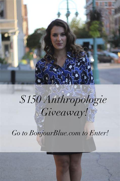 Anthropologie Giveaway - anthropologie giveaway bonjour blue