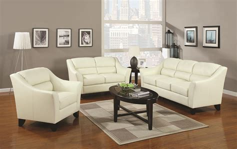 ivory leather living room sets zion star