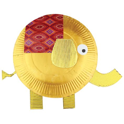 Elephant Paper Plate Craft - paper plate elephant cleverpatch