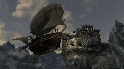skyrim hot air balloon kit unequip skyrim 스카이림 비공정을 추가해줍니다 airship dev aveza 스카이림