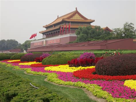 Arrangement Flowers by Travel Trip Journey Forbidden City Beijing China
