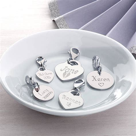 Charm Silver by Personalised Sterling Silver And Disc Charms By