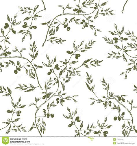 V51 Wallpaper Sticker Motif Vintage Brown naadloze getrokken het patroonhand de olijftak vector