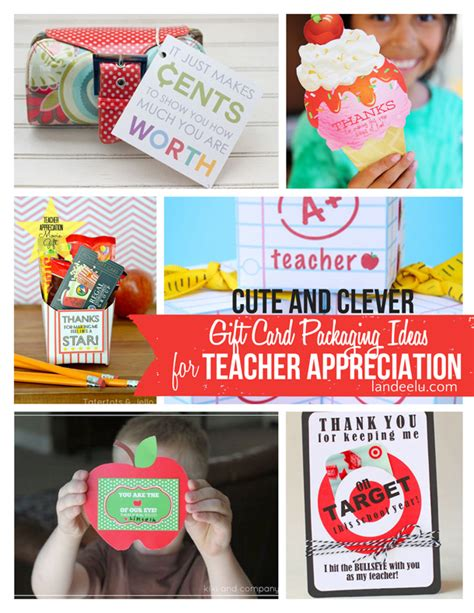 How To Present Gift Cards - teacher appreciation clever ways to give gift cards