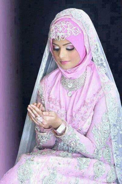 warna pink moslem pink wedding dress pink moslem wedding dress gaun pink bridal hijab style for wedding pinterest girls