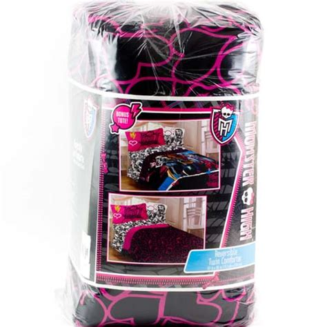 monster high twin bedding monster high twin single bedding reversible comforter
