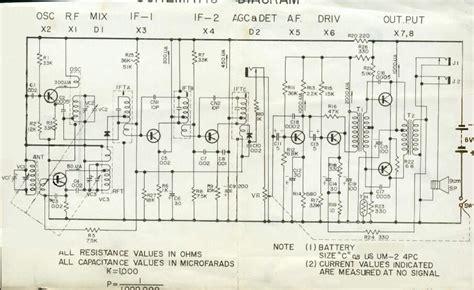 transistor radio schematic diagram lafayette transistor radio schematic lafayette radio