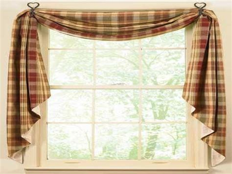 Swag Valances For Windows Designs Curtain Ideas Country Kitchen Window Curtains Ideas Swag Window Treatment Ideas Kitchen