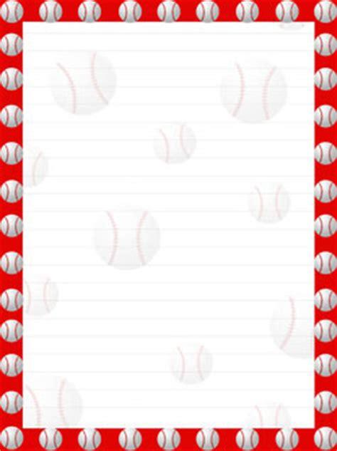 printable basketball stationary printable baseball stationery from printabletreats com